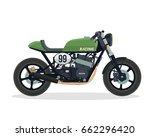 vintage classic cafe racer... | Shutterstock .eps vector #662296420