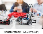 ready made robots on table | Shutterstock . vector #662296834