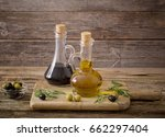 olive oil and balsamic vinegar... | Shutterstock . vector #662297404