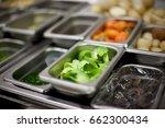 restaurant kitchen ingredients... | Shutterstock . vector #662300434