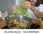 preparing chinese cabbage for... | Shutterstock . vector #662300560