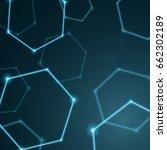 abstract hexagon background ... | Shutterstock .eps vector #662302189