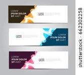 vector abstract design banner... | Shutterstock .eps vector #662302258