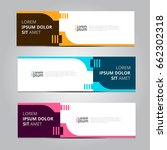 vector abstract design banner... | Shutterstock .eps vector #662302318