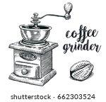 hand drawn vintage manual... | Shutterstock .eps vector #662303524