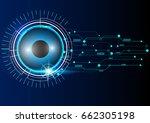 vector digital technology... | Shutterstock .eps vector #662305198