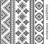 vector ethnic seamless pattern | Shutterstock .eps vector #662309323