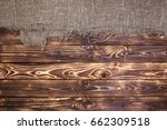 dark wooden background with...   Shutterstock . vector #662309518