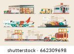 delivery service concept.... | Shutterstock .eps vector #662309698