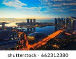aerial view of singapore... | Shutterstock . vector #662312380