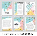 abstract vector layout... | Shutterstock .eps vector #662315794