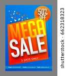 mega sale with 50  off for... | Shutterstock .eps vector #662318323
