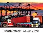 industrial business logistics... | Shutterstock . vector #662319790