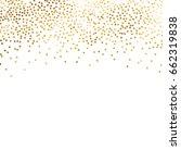 gold glitter background polka... | Shutterstock .eps vector #662319838