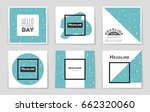 abstract vector layout... | Shutterstock .eps vector #662320060