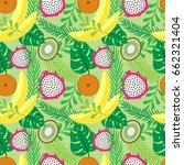 vector seamless pattern with... | Shutterstock .eps vector #662321404