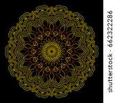 background with gold mandala on ... | Shutterstock .eps vector #662322286