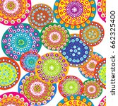 colorful floral seamless... | Shutterstock .eps vector #662325400