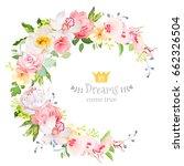 summer floral vector round... | Shutterstock .eps vector #662326504