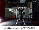 athlete walking on his hands... | Shutterstock . vector #662329300