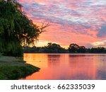 Sunset At Lake Monger In Perth  ...