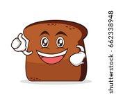 enthusiastic bread cartoon...   Shutterstock .eps vector #662338948