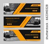 trendy horizontal business... | Shutterstock .eps vector #662340328