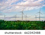 wind turbine farm   environment ... | Shutterstock . vector #662342488