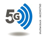 5g vector icon. 5th generation... | Shutterstock .eps vector #662343760