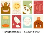 best dad ever. collection of... | Shutterstock .eps vector #662345440