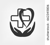 medical cross and heart   Shutterstock .eps vector #662345806