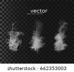 vector illustration of smoky... | Shutterstock .eps vector #662353003