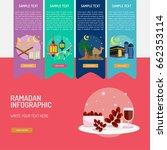 ramadan infographic | Shutterstock .eps vector #662353114