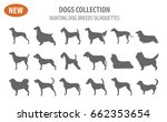 hunting dog breeds set icon... | Shutterstock .eps vector #662353654