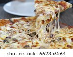 cheese pizza on the plate   Shutterstock . vector #662356564