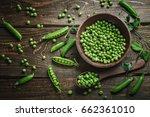 Delicious Ripe Green Peas Lying ...