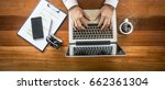 top view of business man... | Shutterstock . vector #662361304