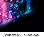 fintech icon  on abstract... | Shutterstock . vector #662363038