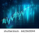 financial stock market graph on ... | Shutterstock . vector #662363044