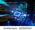 3d rendering futuristic blue... | Shutterstock . vector #662365414