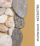 gray and white pebbles on brown ... | Shutterstock . vector #662365780