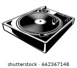 black and white turntable | Shutterstock .eps vector #662367148