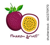half of passion fruit icon....   Shutterstock .eps vector #662370970