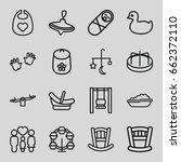 childhood icons set. set of 16... | Shutterstock .eps vector #662372110