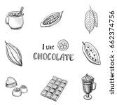 vector set of hand drawn icons... | Shutterstock .eps vector #662374756