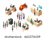 isometric bank clients and... | Shutterstock .eps vector #662376109