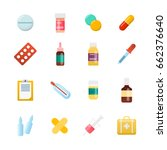 medicine cartoon pill  drug ... | Shutterstock .eps vector #662376640