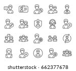users line icons. male and... | Shutterstock .eps vector #662377678