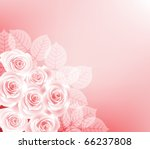 background with roses   Shutterstock .eps vector #66237808
