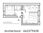 architectural plan of a house.... | Shutterstock .eps vector #662379658